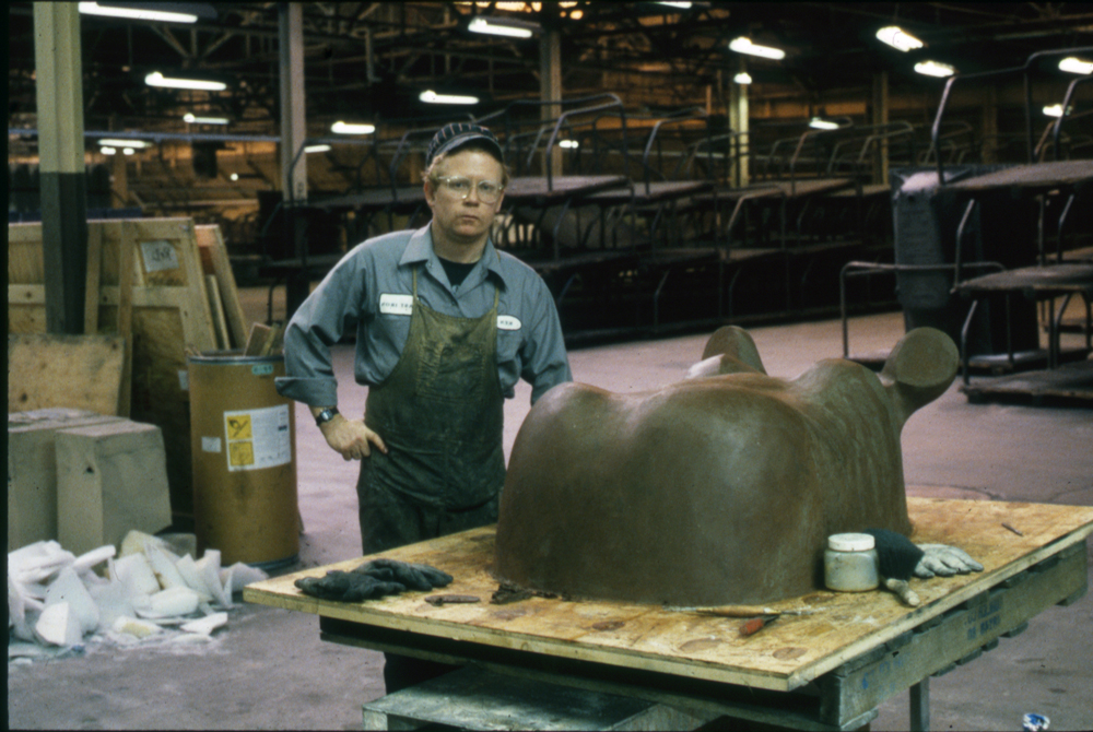 The Hippo in clay, 1988
