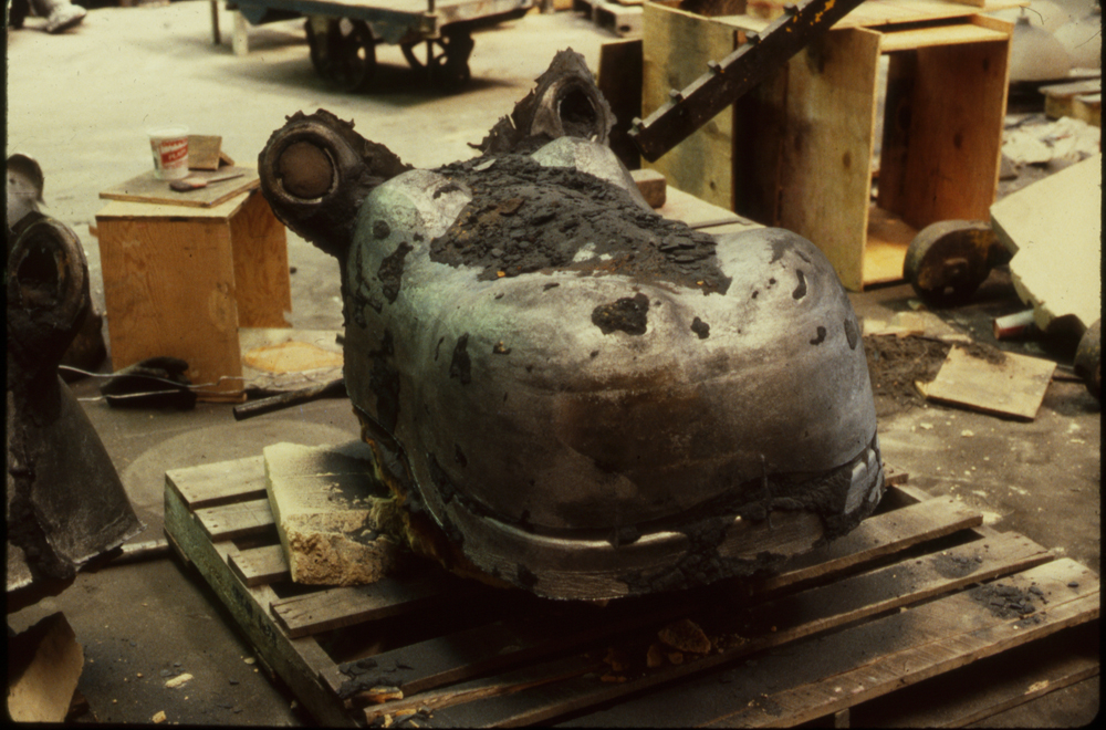 Rough casting of the Hippo, 1988