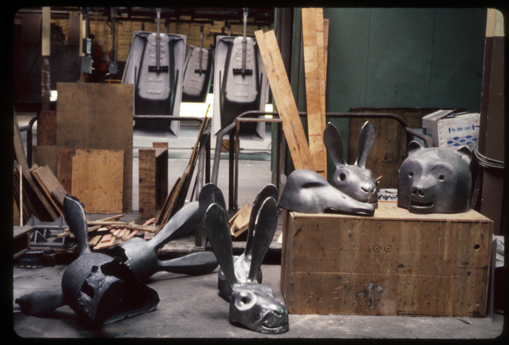 Hare and other castings, 1988