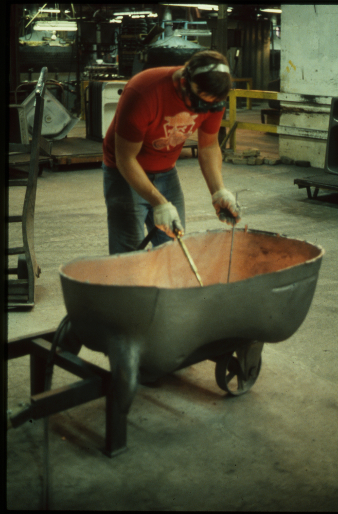 Welding repair for the Hippo, 1988