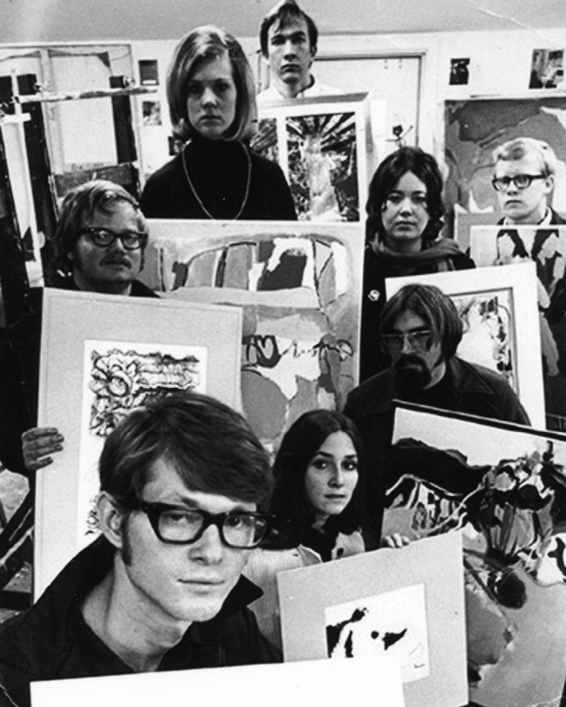 Ken with my classmates in Senior painting at Texas Tech University,1969