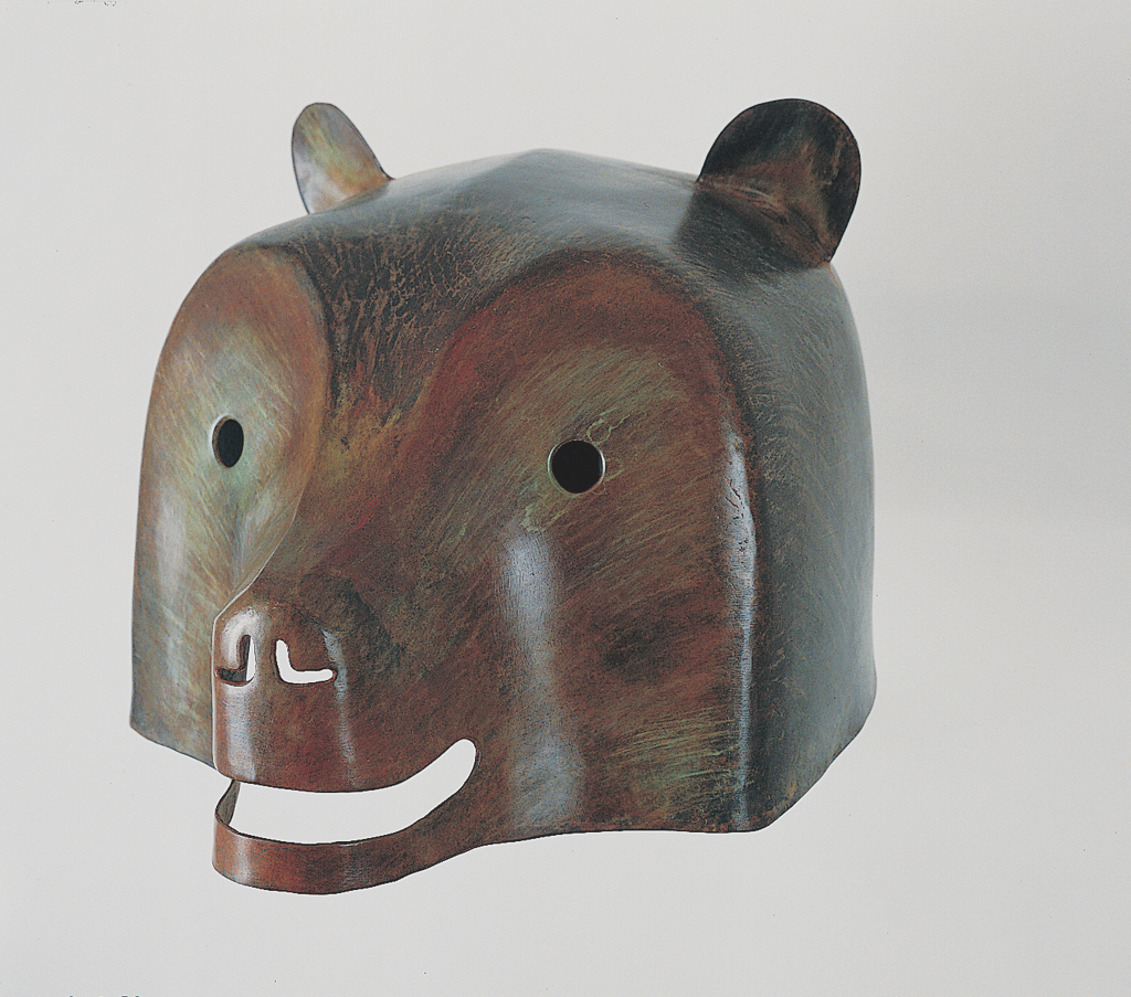 """Bear"" (1987) is typical of these early bronze works in which Little collaborated with Harry Geffert to fabricate.; Bronze, [edition of 10] 13"