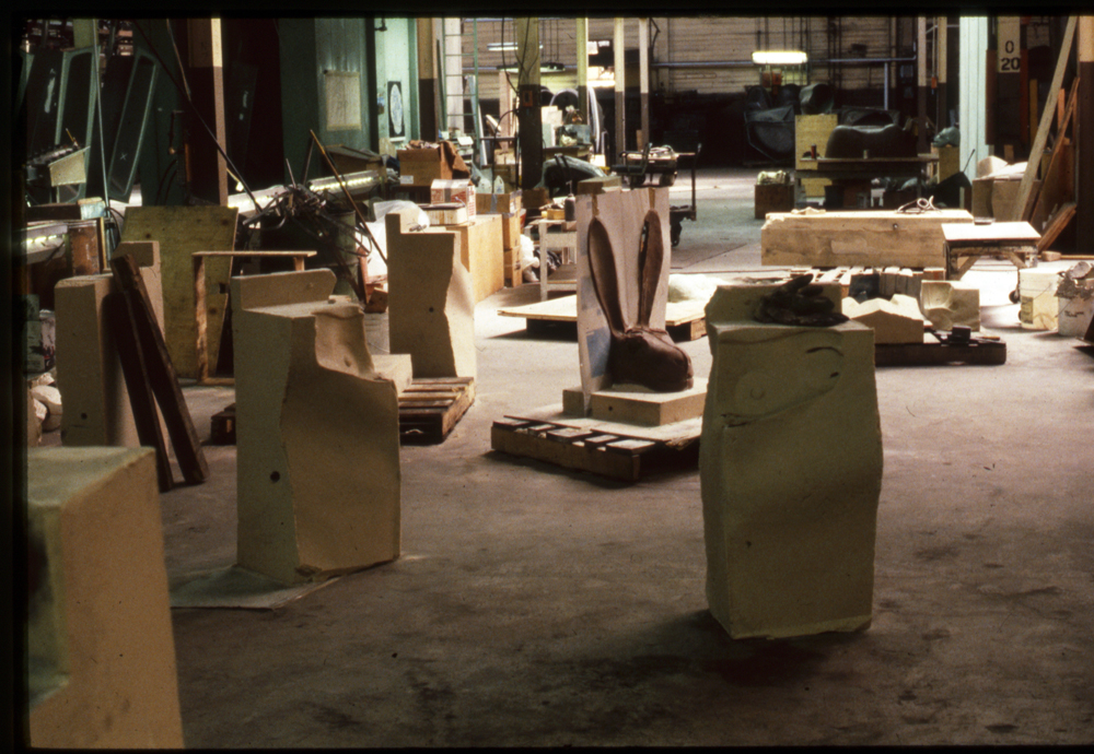 The Hare clay with the mold separation shims, 1988