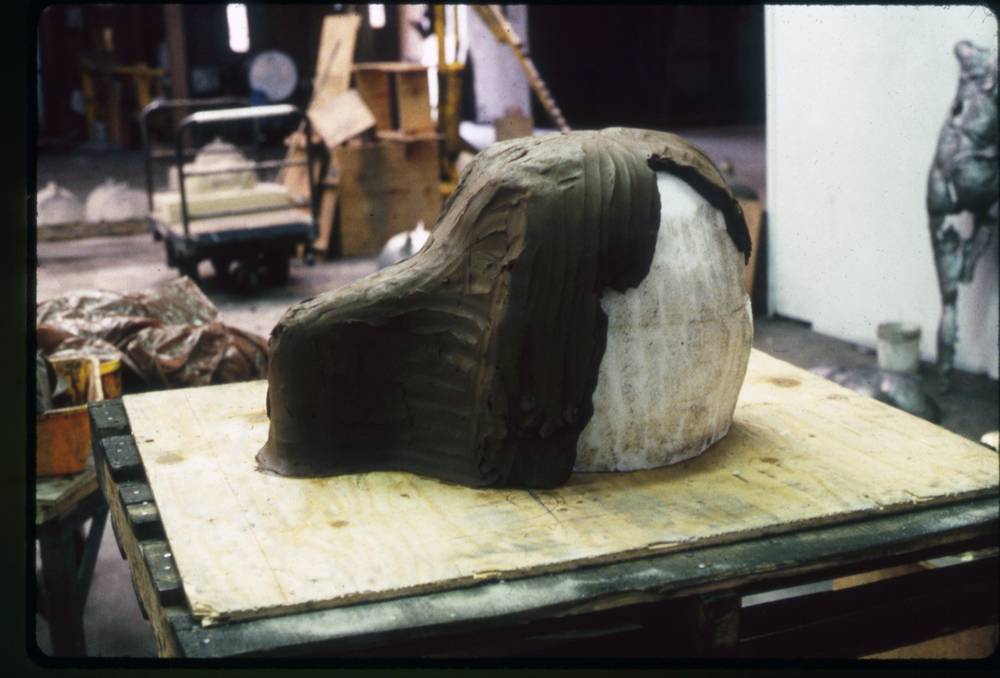 Starting the Wolf in Clay, 1988