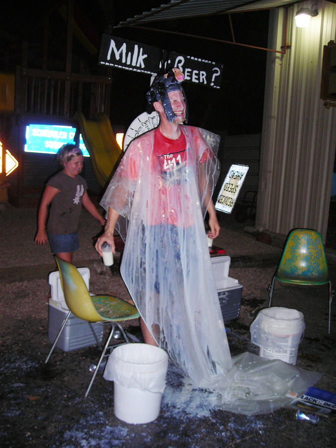 Jimmy Kuenhle with a George Zupp Milk/Beer shower!