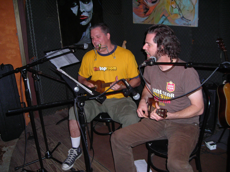 Lloyd Walsh and Dennis Fallon at a 2006 Hometown Artist's Rodeo