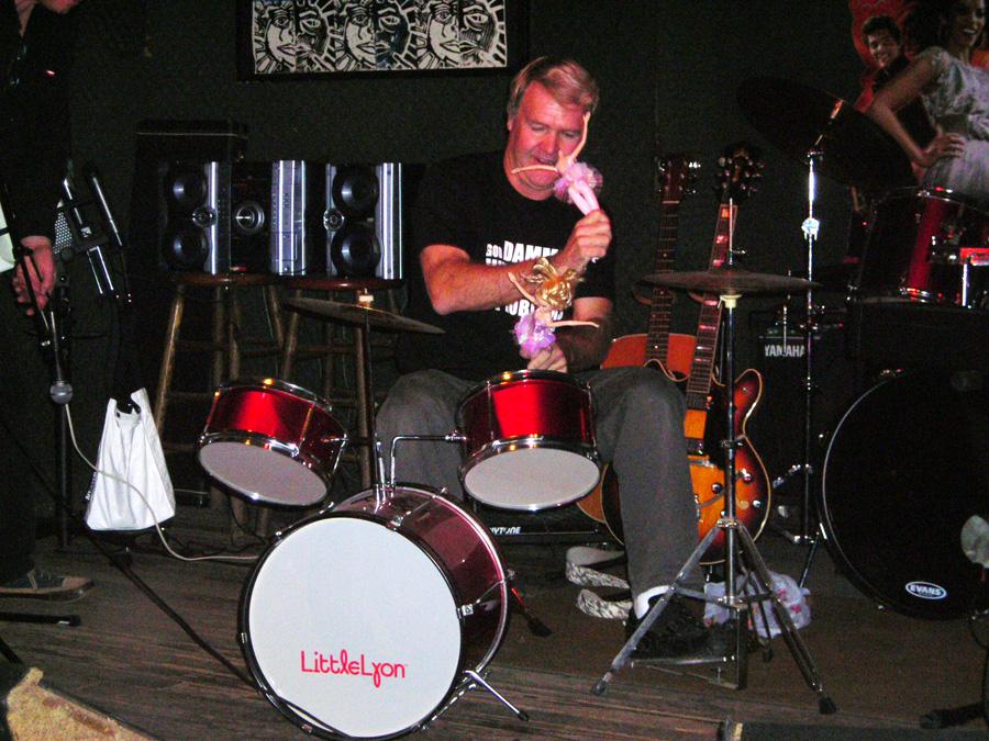 Gary Sweeney plays Kurt Cobains Teen Spirit on drums using Barbie dolls as the drumsticks, 2008 Hometown Artist's Rodeo
