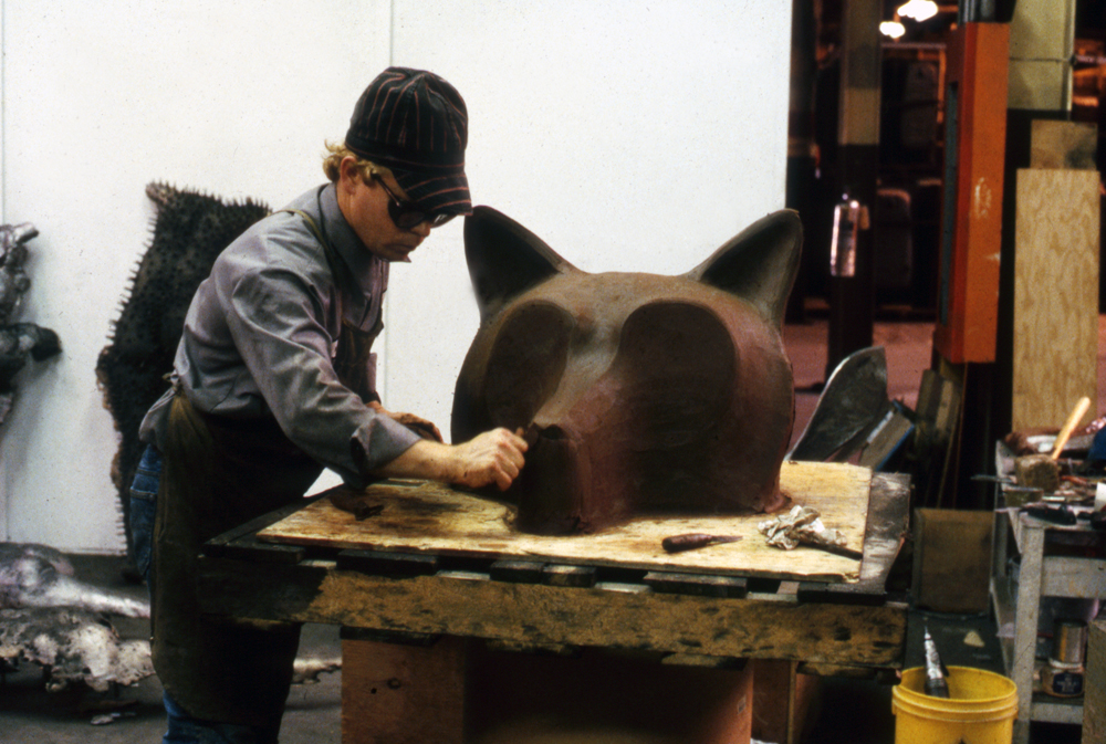 Working the Wolf in Clay, 1988