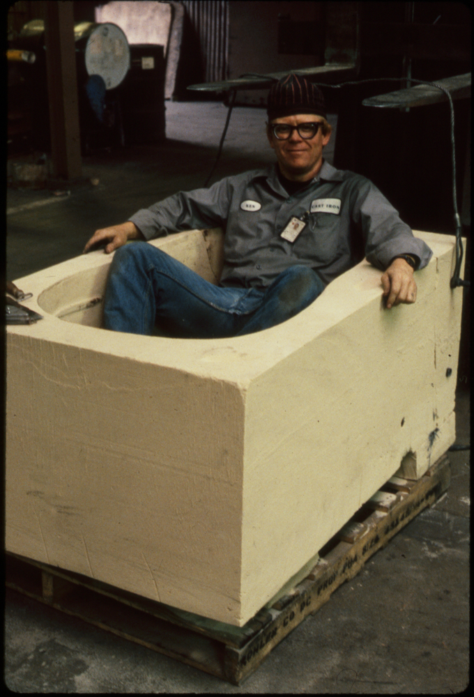 Inside the Hippo mold, 1988
