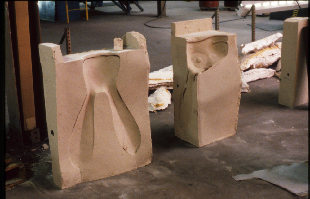 Parts of the bonded sand mold for the Hare, 1988