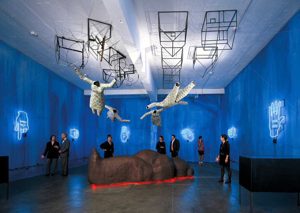 """Soaring: The Rules of Engagement"" 1995: Mixed Media; an installation at Artpace, San Antonio, October 6-November 10, 1995 as part of their International Artists in Residency Program"