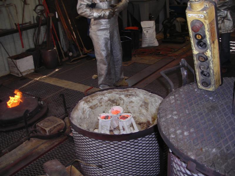 The Poured Ceramic Shells (in the preheat kiln)